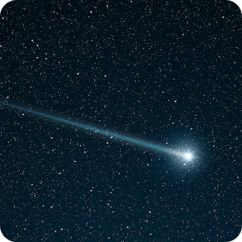 shooting star going across the star field-opt